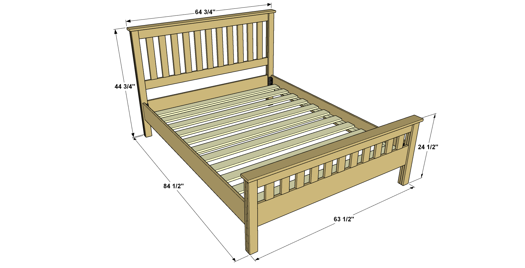 classic-craftsman-style-queen-bed-overall-with-dimensions