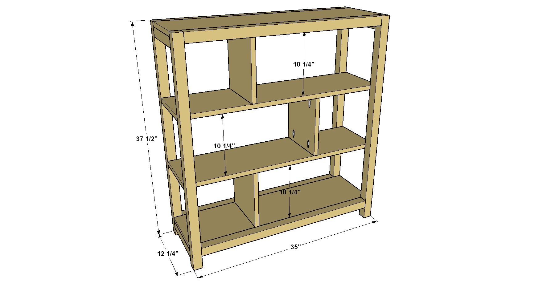 easy-to-build-bookcase-overall-with-dimensions