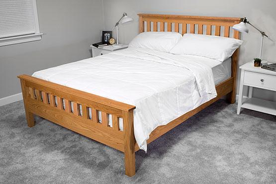 Classic Craftsman-Style Queen Bed