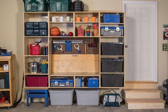 Garage Storage and Work Center