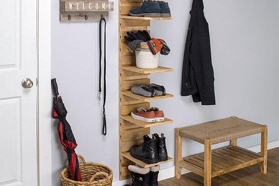 Wall-Mounted Shoe Rack