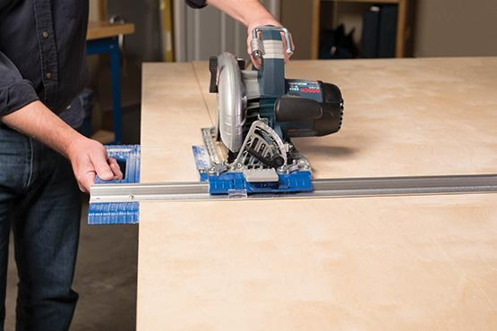 How to cut plywood using a saw guide