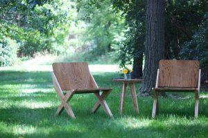 Plywood Chair Set