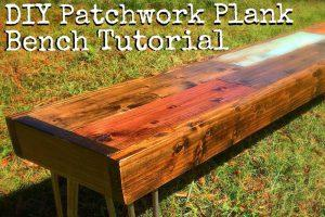 Patchwork Plank Bench
