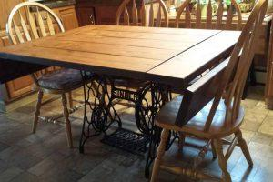 Table for Antique Sewing Machine Base