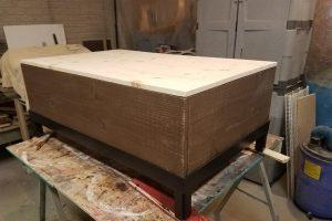 Upholstered Top Storage Coffee Table