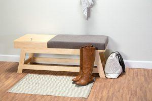 Bench with Built-In Storage – Metric