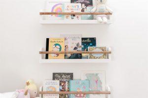 Playroom Picture & Bookshelves (set of three)