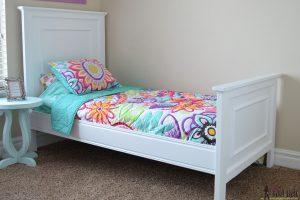 Faux Raised Panel Twin Bed