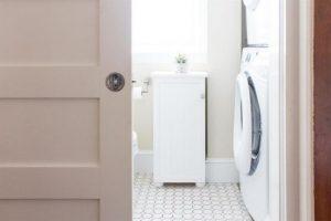 Beadboard Bathroom Cabinet