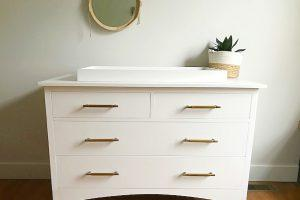 DIY Changing Table Dresser