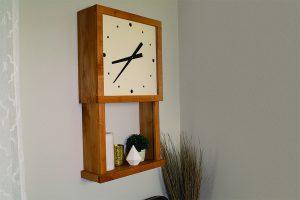 Wall Clock with Display Shelf