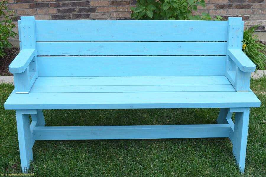 converted-bench-front-view