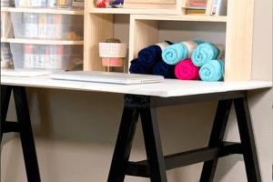 DIY Sawhorse Craft Desk