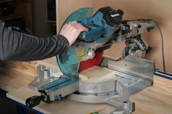 How to crosscut boards on a miter saw