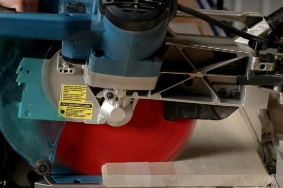 How to crosscut wide boards on a miter saw