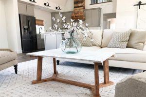 DIY Angled Coffee Table