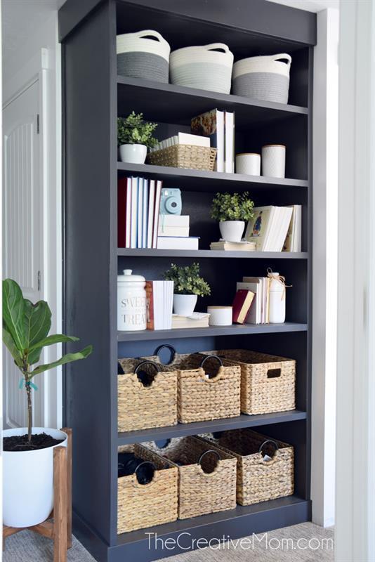 diy-black-bookcase