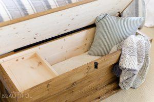 DIY Blanket Storage Chest