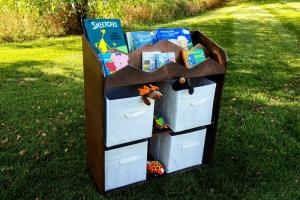 Mountain Bookshelf and Toy Storage