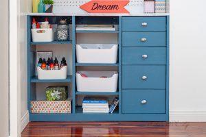 DIY Custom Craft Closet