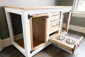 DIY Dog Crate Console