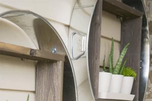 DIY Galvanized Tub Vertical Planter
