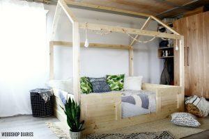 DIY Kids House Bed
