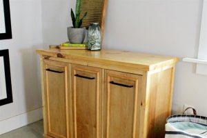 DIY Tilt Out Laundry Hamper Cabinet
