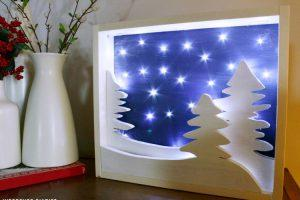 DIY Light Up Christmas Art