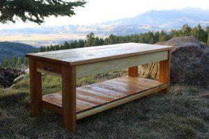 DIY Cedar Garden Bench