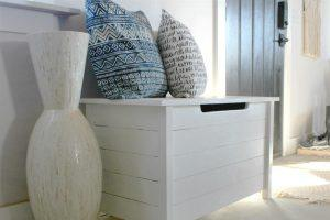 Simple DIY Toy Box with Faux Slats