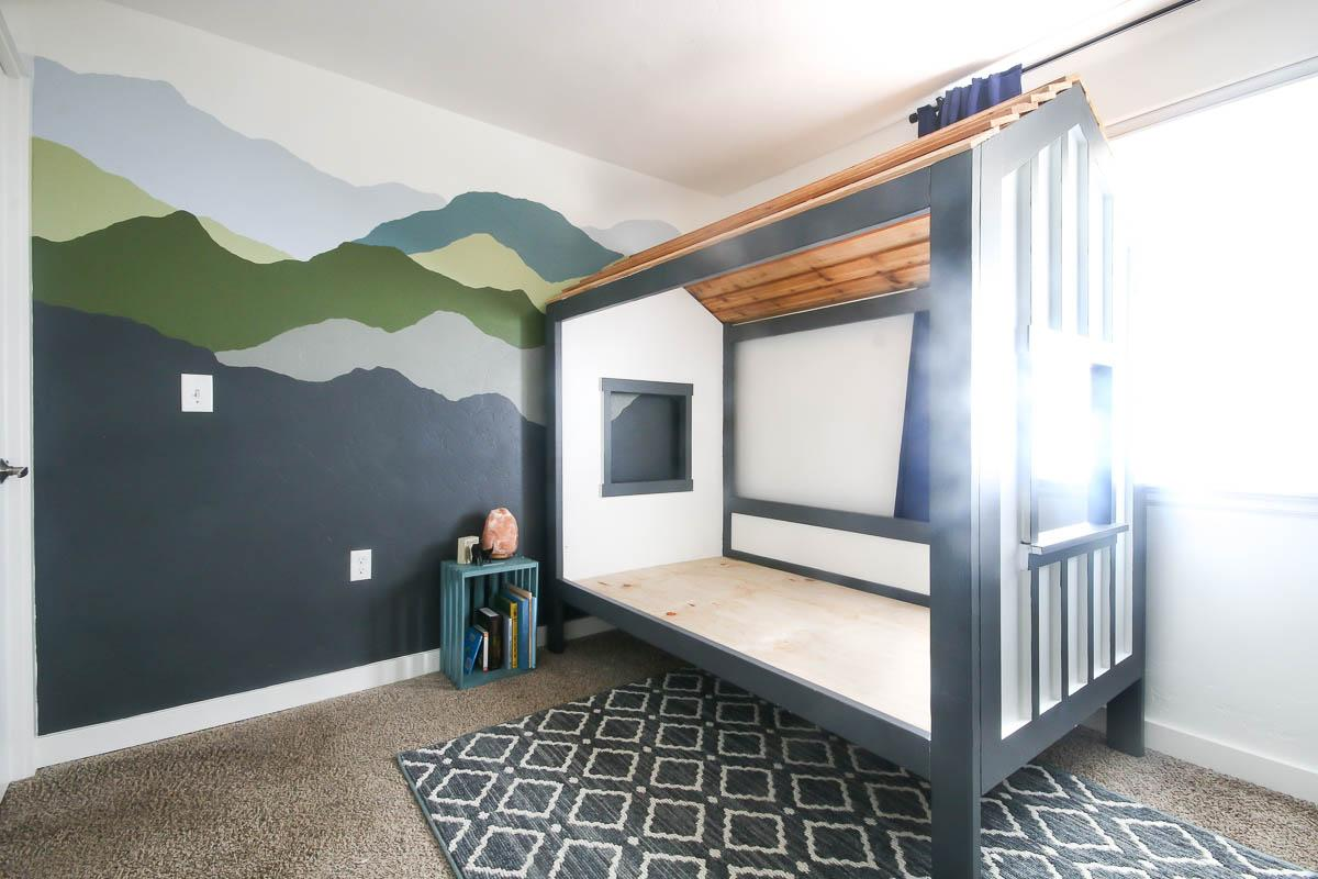 diy-cabin-bed-for-kids-room