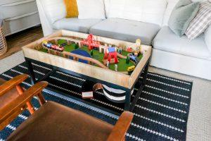 Coffee Table with Train Table/Storage