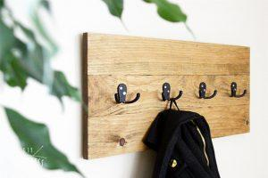 Easy Wooden Coat Rack
