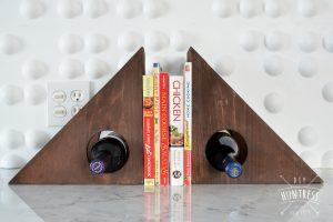 DIY Wine Rack Book Ends