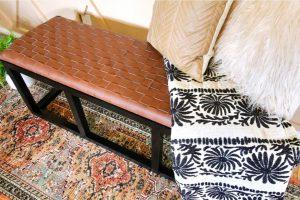 DIY Faux Leather Bench
