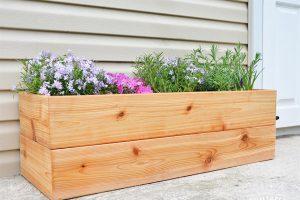 DIY Modern Cedar Planter