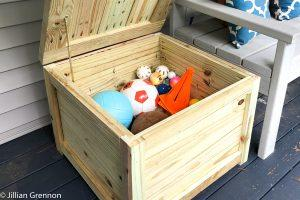 Side Table Deck Box