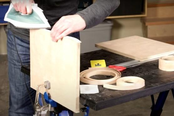 How to dress up plywood with iron-on edging