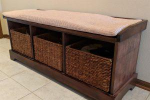 Padded Entryway Bench