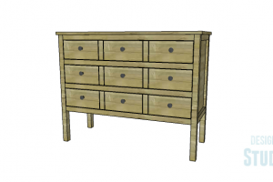 Console Table with Faux Drawer Fronts