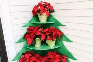 Christmas Tree Shaped Poinsettia Stand