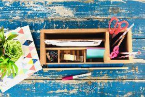 DIY Desk Stuff Organizer