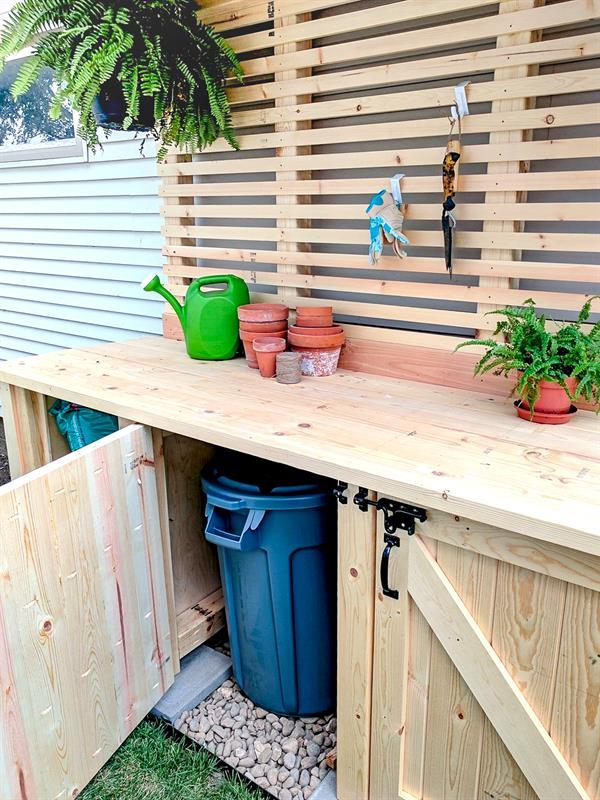 free-building-plans-for-this-diy-potting-bench-with-garbage-can-enclosure-reality-daydream