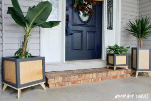 DIY Modern Planter Box