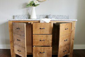 Faux Drawer Bathroom Vanity