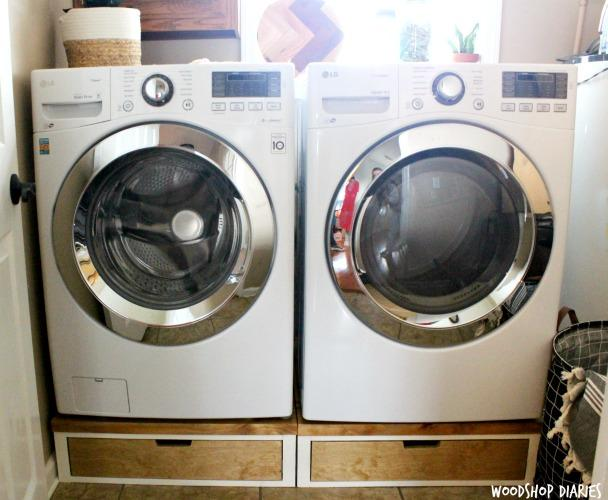 how-to-build-washer-and-dryer-stands-with-storage