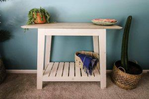 DIY Coastal Console Table