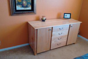 Maple Combination Dresser and Craft Cabinet